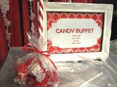 candy buffet signage