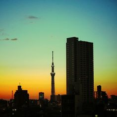 Town go softly colored. Tokyo Skytree, Tokyo Tower, Sky View, Nagasaki, Tokyo Japan, City Life, Asia Travel, Cn Tower, The Dreamers