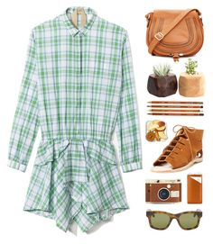 """Plaid Shirt Dress"" by junglover ❤ liked on Polyvore"