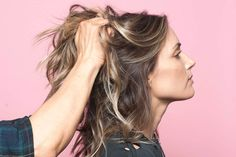 How To Style L.A.'s Most Popular Haircut 3 Ways In 3 Days  #refinery29  http://www.refinery29.com/anh-co-tran-layered-long-bob#slide-5  Next, shake out the curls! Using your hands, go in and gently massage your roots and scrunch the length of hair, to muss the curl patterns and make them look effortless. ...
