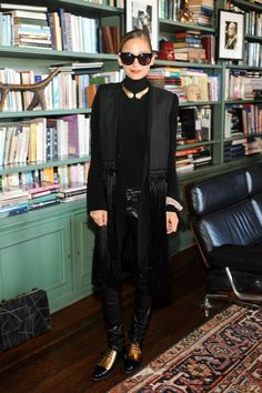 Those tassels are almost half her size, and it works. #refinery29 http://www.refinery29.com/2016/01/101520/nicole-richie-style-outfit-pictures#slide-23