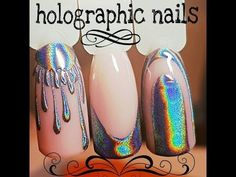 @pelikh_ДИЗАЙН НОГТЕЙГОЛОГРАФИК ФРЕНЧHOLOGRAPHIC NAILS - YouTube