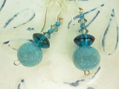I love turquoise and these faux moonstone beads are delicious.