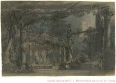 [La reine de Chypre : esquisse de décor de l'acte III / Charles Cambon] - 1841