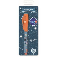 Zauberstift 'Magic Pen/Camille in orange-blau' - HeimatKinder Shop Invisible Ink, Best Pens, Under The Lights, School Decorations, Wooden Puzzles, Beams, Gifts For Kids, Stationery, Messages