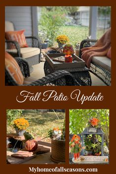 Patio Update With A New Look For Fall - my home of all seasons