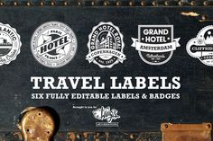 Check out Travel Labels and Badges by Wing's Art and Design on Creative Market