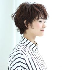 ニュアンスウェーブ ショート ヘアスタイルカタログ 髪型 HAIRstyle 美容室 可愛い short ショート