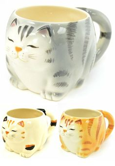 These mugs for any cat owner: | Community Post: 19 Perfect Mugs For All The Cat Lovers In Your Life Cat Things, Crazy Cat Lady, Crazy Cats, Cool Cats, I Love Cats, Pet Lovers, Cat Stuff, Cat Cafe, Gatos Cat