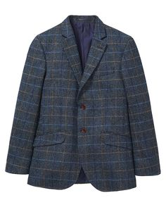 Herringbone Wool Blazer at Crew Clothing Christmas Offers, Crew Clothing, Classic Man, Smart Casual, Herringbone, Coats For Women, Brown Leather, Casual Outfits, Polo Shirt