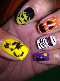 DIY halloween nails: DIY Halloween nail art : NARC Halloween Mix Match