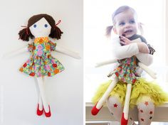 chloe with fabric doll