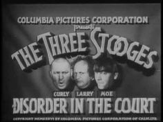 The Three Stooges episode 15 (Disorder in the Court) 1936 full video
