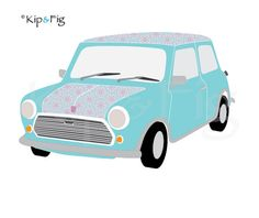 Mini classic car applique PDF template - applique pattern design £2.00, via Etsy. © Kip & Fig 2012