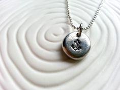 Anchor Necklace- Nautical Anchor Necklace. $19.00, via Etsy.