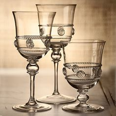 Juliska stemware. Possibly the most beautiful tablewear in the world as their ad slogan claims