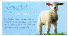 Remember His Sacrifice John 3;16