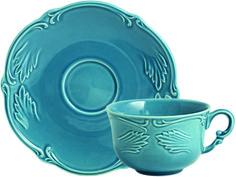 #Gien - collection Rocaille - assiette à dessert - ø16cm et 18cl - coloris bleu givré - Gien www.gien.com/
