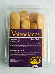Valencianos® Crackers with Sea Salt. From Valencia, Spain