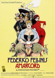 Amarcord (1973)  #70s #FedericoFellini #Italian #films #movies #posters #HighRes #HR