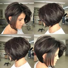 30 Best Short Bob Haircuts for Women Most of this bob hairstyles fit women especially the ones with a round face. We have gathered together the Short Bob Haircuts for Women that are really amazing Inverted Bob Haircuts, Bob Haircuts For Women, Layered Bob Hairstyles, Best Short Haircuts, Short Hair Cuts For Women, Easy Hairstyles, Pixie Haircuts, Medium Hairstyles, Short Cuts