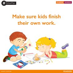 Kids won't learn if they don't think for themselves and make their own mistakes. While you may make suggestions and give them directions, it's eventually a kid's job to do the learning. #SchoolTips  Give your child the best education. Enquire for admissions here: http://on.fb.me/1mF0moC. #PearsonSchools