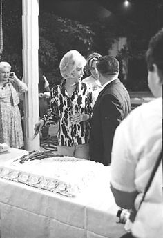 Marilyn celebrating her birthday on the set of Something's Got To Give, 1962.