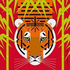 USA - Charley Harper Asian Tiger