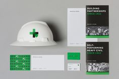 Brand identity, stationery, business cards and brochures for Atlanta construction business Reeves & Young by graphic design studio Matchstic.