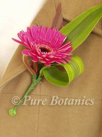 Gerbera wedding buttonhole