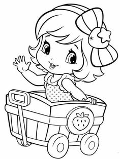 Little girl coloring pages – Coloring Kids Coloring Pages For Girls, Disney Coloring Pages, Coloring Book Pages, Printable Coloring Pages, Coloring For Kids, Free Coloring, Coloring Sheets, Strawberry Shortcake Coloring Pages, Princess Coloring