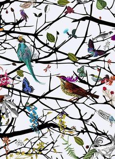 Kristjana S Williams | Hjartar Tree wallpaper (detail)