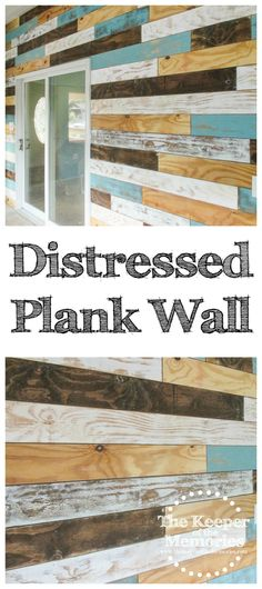 plank wall - distressed