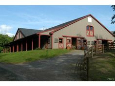 12 COUNTY RD     Far Meadow Farm Equestrian Center-exclusive commercial riding facility in heart of Litchfield County. 21 stalls, 100X200 indoor riding arena, 2 tack rooms, offices, viewing lounge w/ full kitchen, maintenance facility, 11 paddocks, 2 medical paddocks, 1 outdoor riding ring, included in sale 7-room, 3-bedroom 1757 Colonial. Also available...