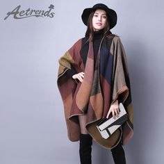 Women's Winter Poncho Vintage Blanket Women's Lady Knit Shawl Cape Cashmere Scarf Poncho Z-2241 $25.78   => Save up to 60% and Free Shipping => Order Now! #fashion #woman #shop #diy  http://www.scarfonline.net/product/aetrends-2016-new-brand-womens-winter-poncho-vintage-blanket-womens-lady-knit-shawl-cape-cashmere-scarf-poncho-z-2241/