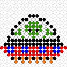 Kralenplank Vliegende schotel Melty Bead Patterns, Hama Beads Patterns, Beading Patterns, Crafts To Do, Bead Crafts, Diy Crafts For Kids, Space Party, Space Theme, Fuse Beads