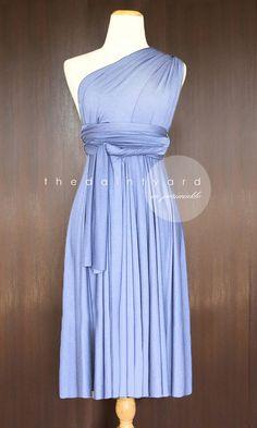 Short Straight Hem Periwinkle Bridesmaid Dress by thedaintyard