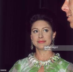 Princess Margaret at the Royal Festival Hall after a Frank Sinatra concert in aid of the NSPCC she is looking up at her husband Lord Snowdon