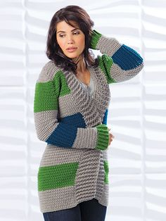 Crochet! Winter 2015 Warm Cardigan Crochet pattern #crochetforwinter #crochetsweaters