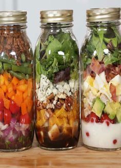 Salad In A Jar! A few delicious and healthy recipes for when you need a quick meal on the go!