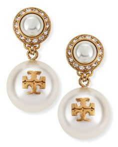 Tory Burch pearly drop earrings  http://rstyle.me/~3ZScw