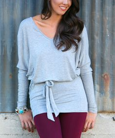 Another great find on #zulily! Heather Gray Leighton Tunic - Women by White Plum #zulilyfinds