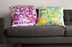 mod graphic pillows