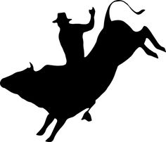 free rodeo silhouettes | cowboy_up011.gif