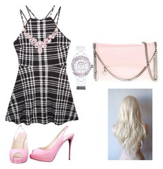 """""""Pink and black and white"""" by izabella1672 ❤ liked on Polyvore featuring мода, Wet Seal, Christian Louboutin, STELLA McCARTNEY, Chanel и Humble Chic"""