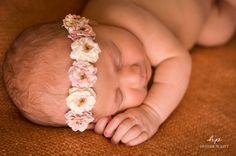 Newborn Headband..Baby Girl Headband..Baby Headband - newborn halo - baby headband. $17.95, via Etsy.