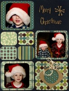 Christmas Layout with Bo Bunny