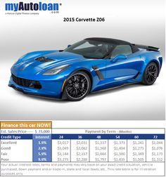 These new Corvettes are crazy fast and affordable for many. www.myautoloan.com