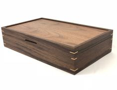 Items similar to Custom Walnut Tea Box on Etsy Wooden Box Designs, Decorative Wooden Boxes, Fine Woodworking, Woodworking Projects, Woodworking Workbench, Jewellery Boxes, Wooden Jewelry Boxes, Tea Box, Wooden Crafts