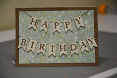 Birthday Card with banner. by SpreadTheJoyCrafts on Etsy, $4.50